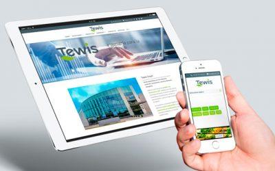 Tewis presenta su nueva web